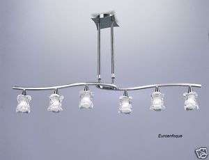 Ref.0039 Lámpara techo 6L Ajustable ROSA DEL DESIERTO