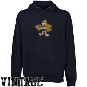 NCAA Oral Roberts Golden Eagles Navy Blue Distressed Logo