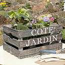 Cote Jardin Wooden Storage Crate   garden & outdoors