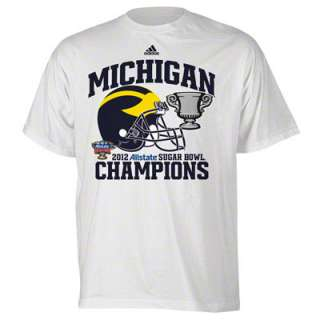 Michigan Wolverines adidas 2012 BCS Sugar Bowl Champions Helmet Honor
