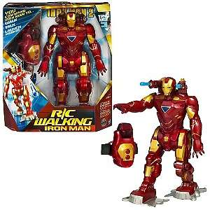 Remote Control Walking Iron Man Figure