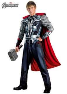 Mens Classic Muscle Avengers Thor Costume  Cheap Cartoon Halloween
