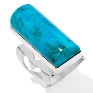 Jay King Blue Turquoise Heart Design Bold Sterling Silver Ring