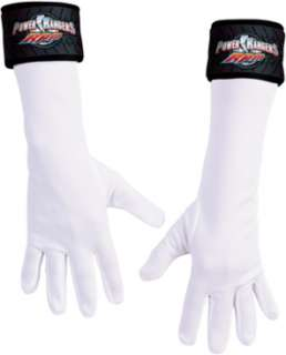 These child size, white Power Ranger gloves will give all young