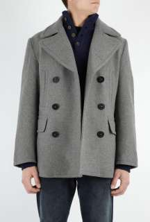 Polo Ralph Lauren  Mid Grey Wool Pea Coat by Polo Ralp Lauren