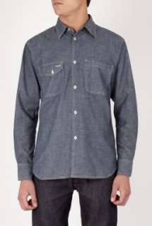 Universal Works  Dark Blue Chambray Work Shirt by Universal Works