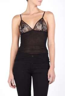 By Malene Birger  Black Cathel Silk & Lace Vest by By Malene Birger