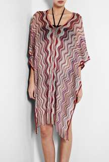 Missoni Accessories  Pink Vertical Wave Fringed Kaftan by Missoni