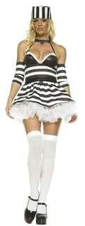Adult Sexy Prisoner Striped Costume   Jail Costumes   15UA83288