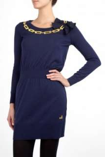 Love Moschino  Chain Applique Knitted Dress by Love Moschino