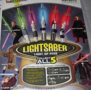 LIGHTSABER toy set Darth Vader   Luke Skywalker   Mace Windu   Anakin