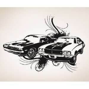 Vinyl Wall Decal Sticker 70s American Muscle Cars #OS