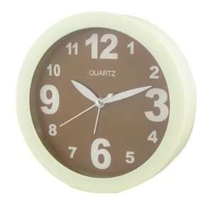 Dial Arabic Number Desk Wall Alarm Clock Coffee Color Home & Kitchen