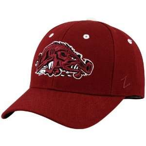 Arkansas Razorbacks Cardinal Running Hog Fitted Hat: