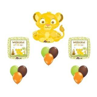 Lion King Baby Simba Baby Shower Party Supplies Balloons Decor