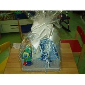 Baby Boy Gift Basket   Makes a Great Shower Gift Baby