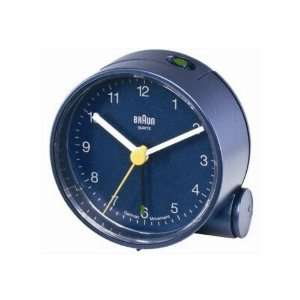 Braun 66005 battery operated quartz alarm clock, blue.
