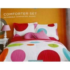 Home Full/Queen Bed Comforter Set with Sham Reversible Big