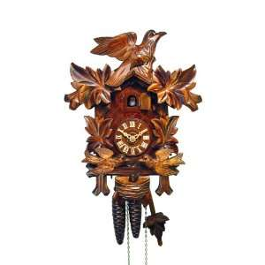 Cuckoo Clock Four Leaves, feeding Birds, Nest