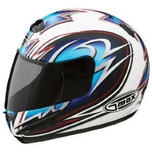 Max GM38 Helmet , Size Lg, Color White/Blue/Black/Silver 738216 TC