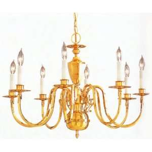 Polished Brass Finish 28 Wide Square Arm Chandelier Home