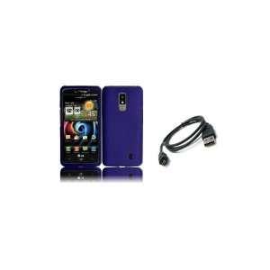 Spectrum (Verizon) Premium Combo Pack   Purple Hard Shield Case Cover