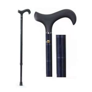 Green Check Maroon Carbon Fiber Walking Cane with Soft Derby Handle
