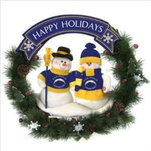 SC Sports San Diego Chargers Team Snowman Wreath Sports