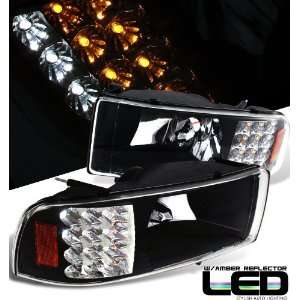 Dodge 94 01 Dg Ram Led Onepc Headlight Blk/Amber Performance 1Set Rh