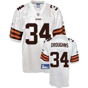 Jersey Reebok White Replica #34 Cleveland Browns Jersey Sports