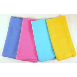Organic Cloth Napkins for Kids ~Rainbow Set Solid Colors~ 4 Napkins