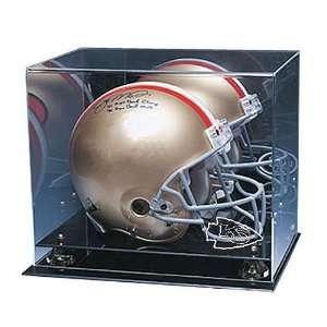 City Chiefs NFL Coachs Choice Full Size Football Helmet Display Case