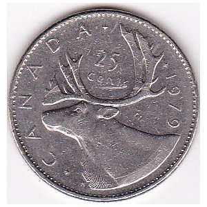1979 Canada 25 Cents Coin Everything Else