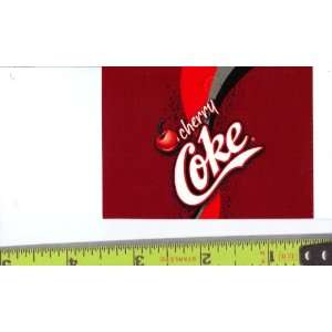 Medium Square Size Cherry Coke Logo Soda Vending Machine Flavor Strip