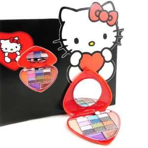 Makeup palette Hello Kitty red heart.