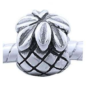 PINEAPPLE Antique Sterling Silver European Style Charm