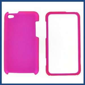 Apple iPod Touch 4 Hot Pink Rubber Protective Case
