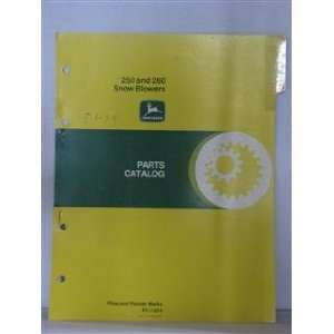 Deere 250 & 260 snow blowers parts catalog March 30, 1979: John Deere