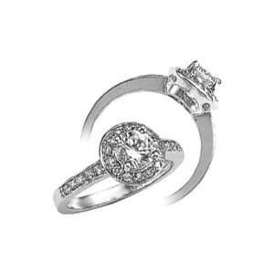 2.01 CARAT diamond antique style ring solitaire jewelry