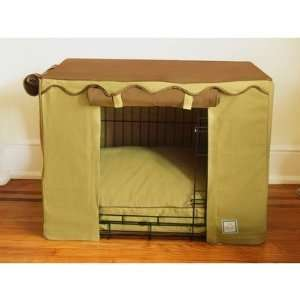 Dog Crate Cover in Coco Sand