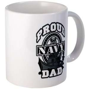 Mug (Coffee Drink Cup) Proud Navy Dad Ship Everything