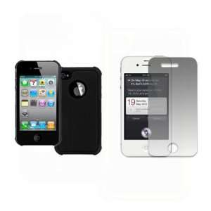 EMPIRE Apple iPhone 4s Armor Hard Case Cover (Black