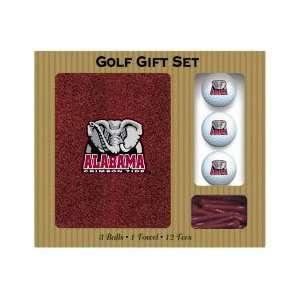 Alabama Crimson Tide Embroidered Towel, 3 balls and 12