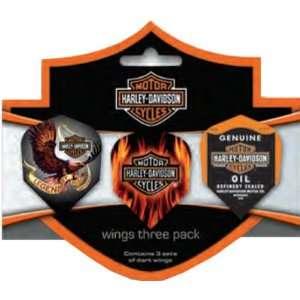 Harley Davidson Flights Wings 3 Pack   643 Sports