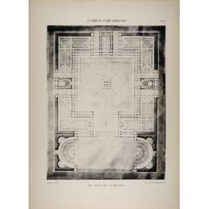 de Rome 1850 Victor Louvet Floor Plan   Original Print
