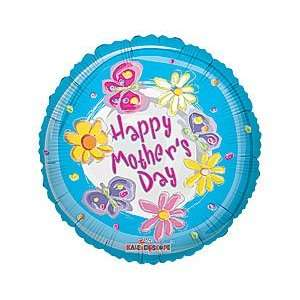 Flower & Butterfly Mother 4 Air Filled Cup & Stick