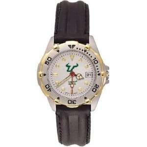 Ducks All Star Ladies Black Leather Strap Watch
