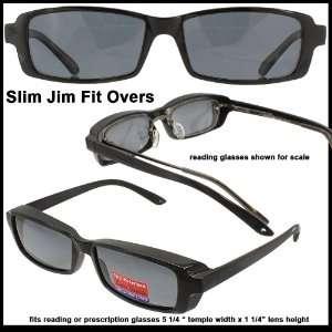 Slim Jim Mini Fit Over Sunglasses Grey Polarized Lenses