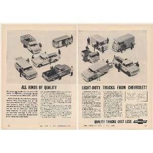 1963 Chevy Light Duty Trucks Pickups Carryall Stake