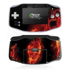 Design Skins for Nintendo Game Boy Advance   Burning Skull